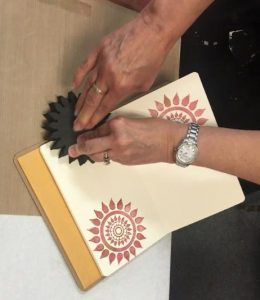 Foamie Stamping in Book