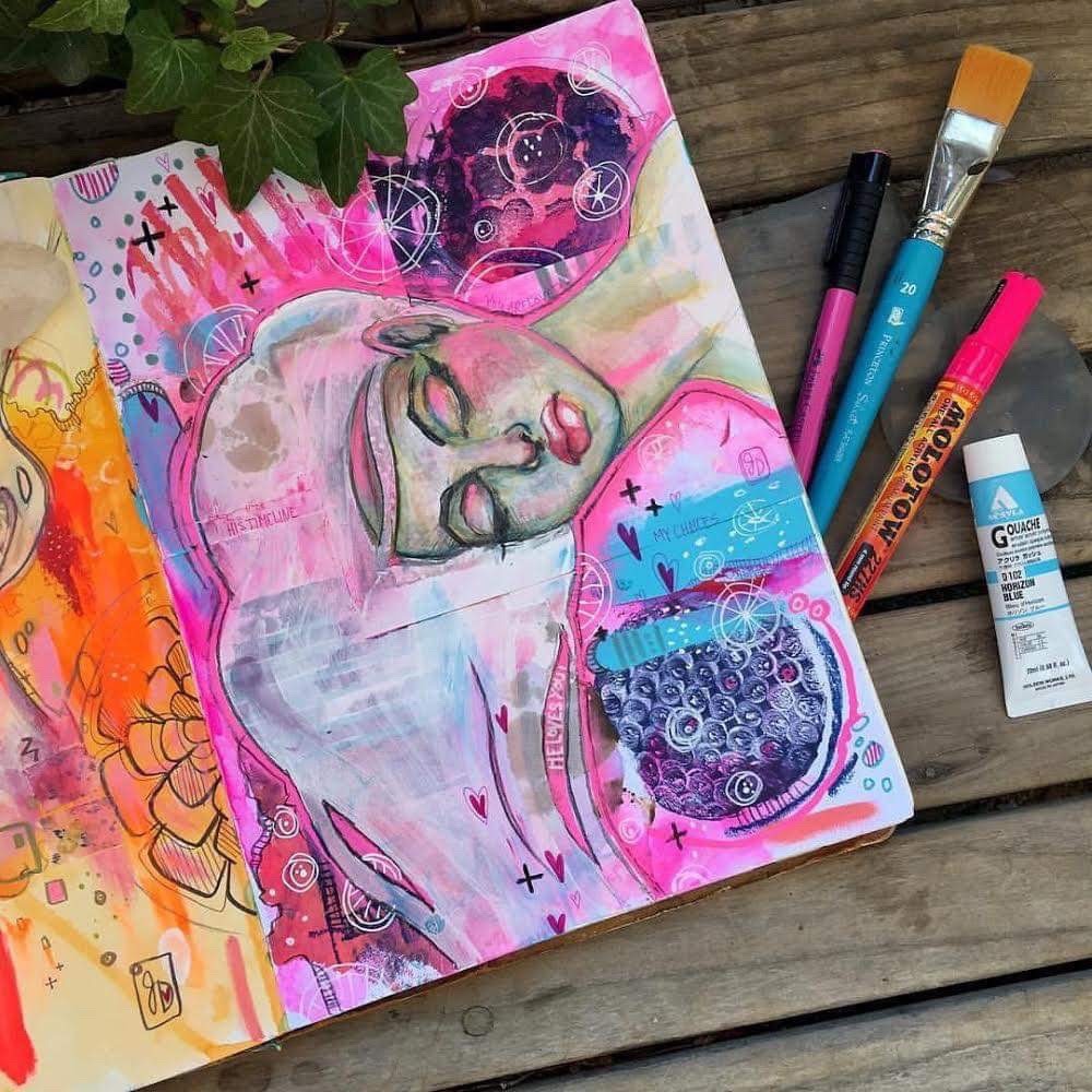 In a Dream State – Jamie Dougherty Art Journaling Class